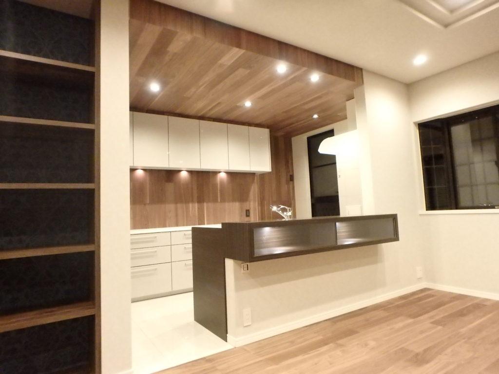 戸建て フルリフォーム リビング キッチン 横浜